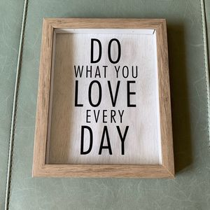 Do What You Love Everyday Wall Accent